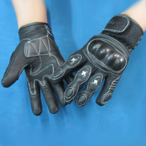 SPY summer gloves cabon+leather